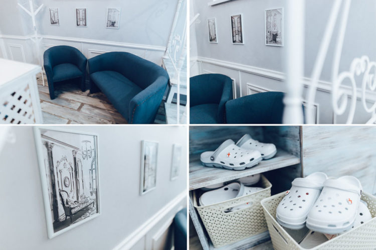 Зал InSide, интерьеры студии, рецепшн, гримерка, туалет, коридоры, кабинет фотографа, кухня, вход Интерьерная фотостудия Киев Rococo Studio ( Рококо )